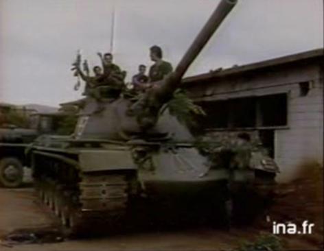 Septembre 1989 - M48 A5 sur le front de Souk el-Gharb