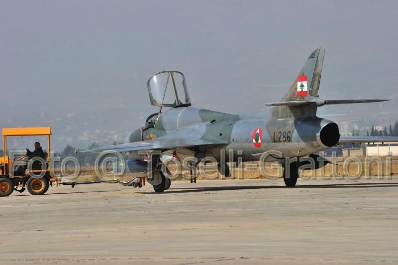 2008 - Hawker Hunter T.66 de l'armée de l'air libanaise sur la base aérienne de Rayak