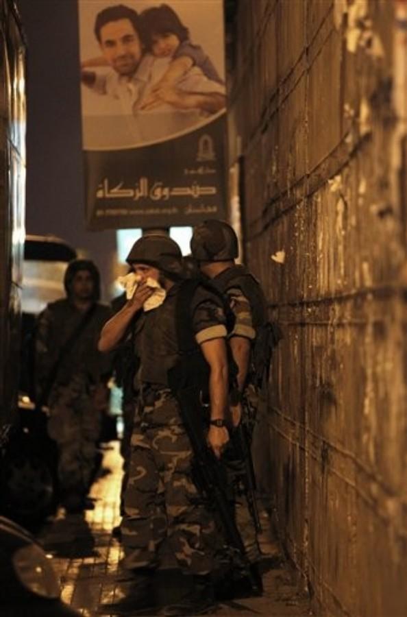 24 août 2010 - L'armée libanaise intervient pendant des clashs entre Amal et Hezbollah d'un côté et Ahbash de l'autre