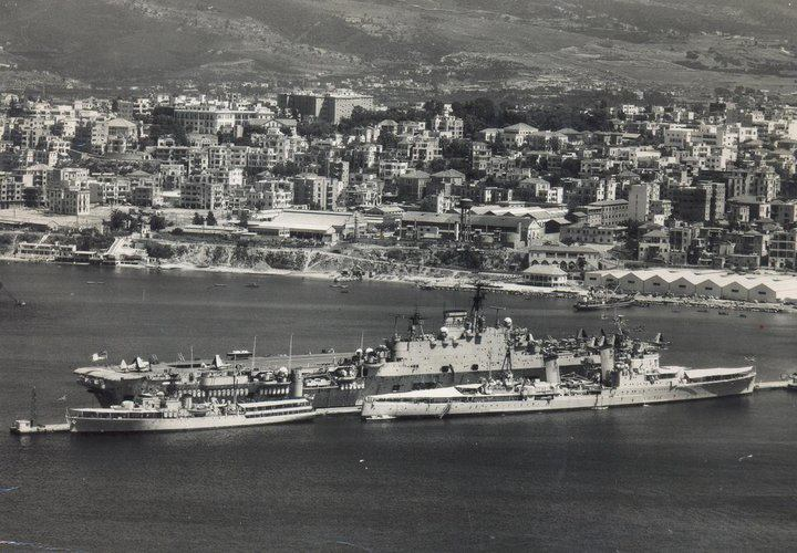 1958 - USS Essex au large de Beyrouth